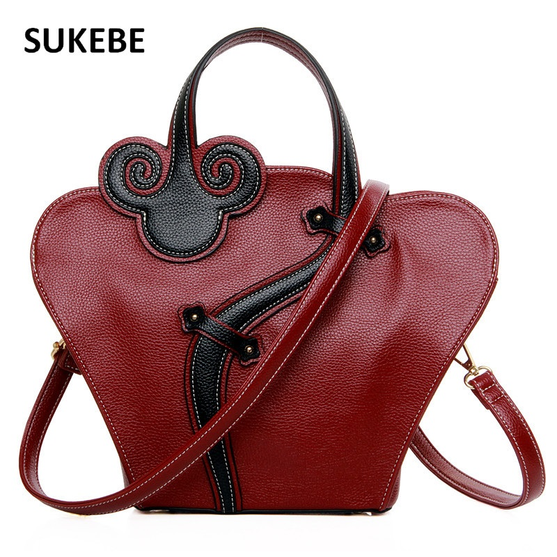 Chinese Style Women Bag Leather Women Messenger Bags Luxury Handbags Women Bags