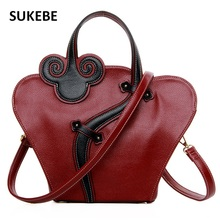 Chinese Style Women Bag Leather Women Messenger Bags Luxury Handbags Women Bags Designer Women Shoulder Bag