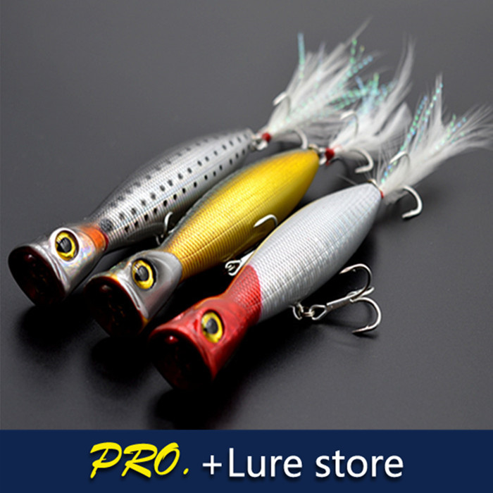 Topwater popper lure hard plastic megabass popper lure for Best bait for saltwater fishing