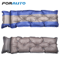 Portable Car Inflatable Mattress Moisture proof Car Air Travel Bed With Pillow Automatic Inflatable Air Pad Bed Seat Cover