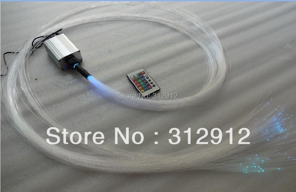 ФОТО optical fiber,110x0,75mm+35x1,0mm+18 x 1,5mm x 2 Meter in one bunch with one 5W RGB IR light engine