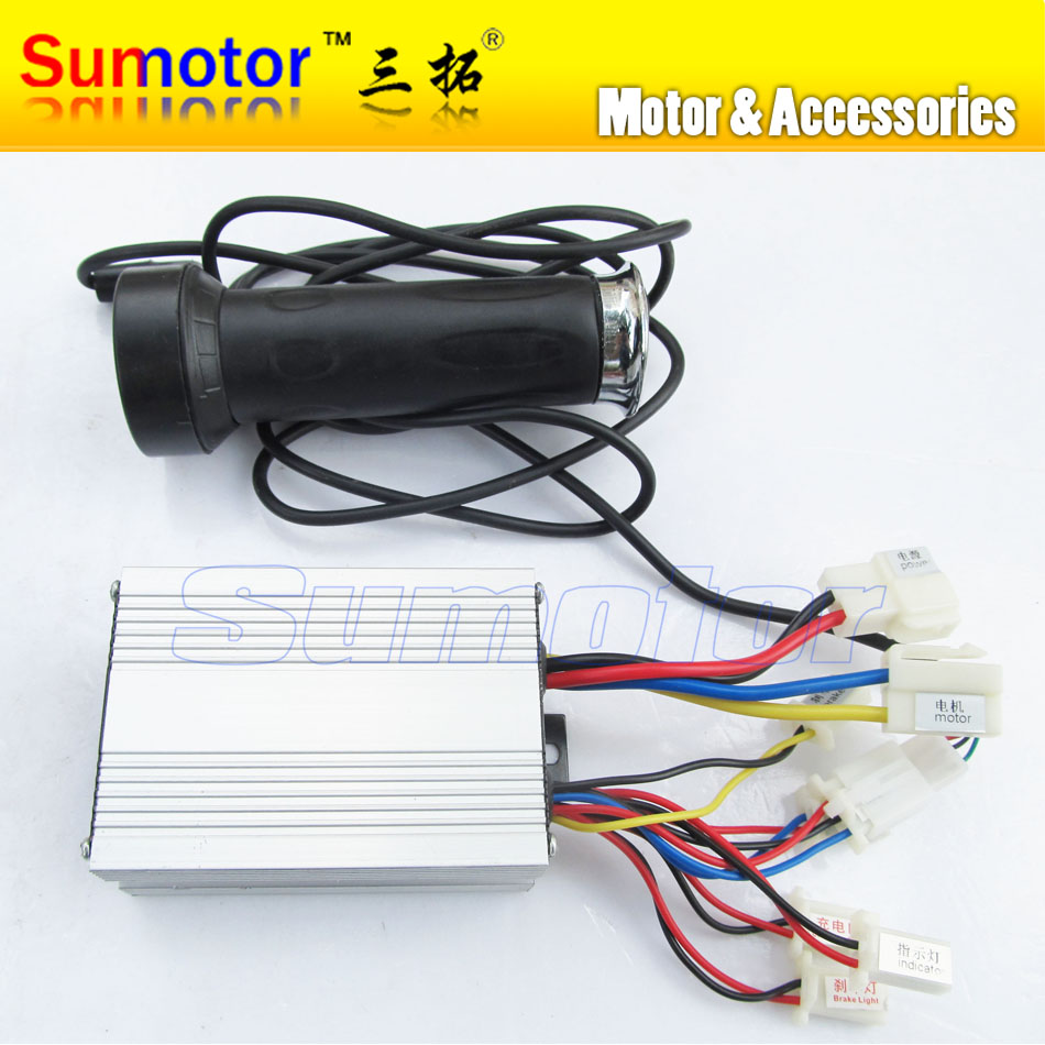 DC 48V 650W brush motor speed controller with Handle, for electric bicycle electric bike controller, e-bike controller scooter moog m44762 003