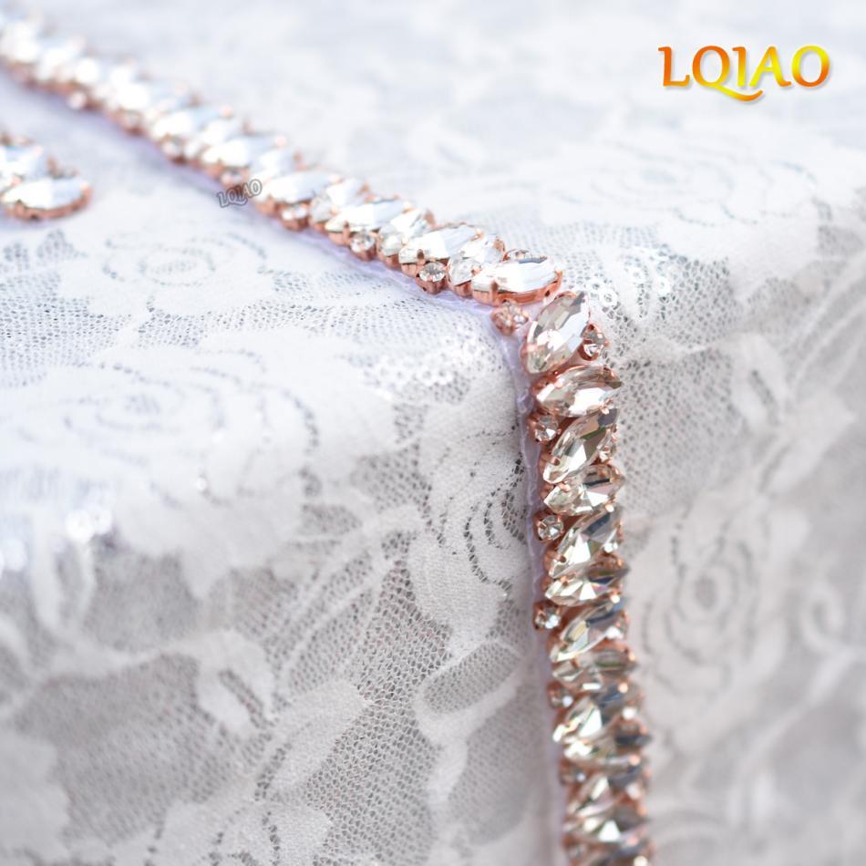 2017 New Perlen Kristall Rose Gold Blume Perle Verschönerung ...