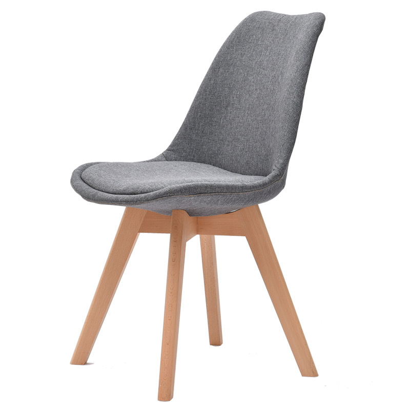 H High Quality Simple Modern Home Dining Chair Back Office Chair Creative Solid Wood Nordic Chair Office Chair