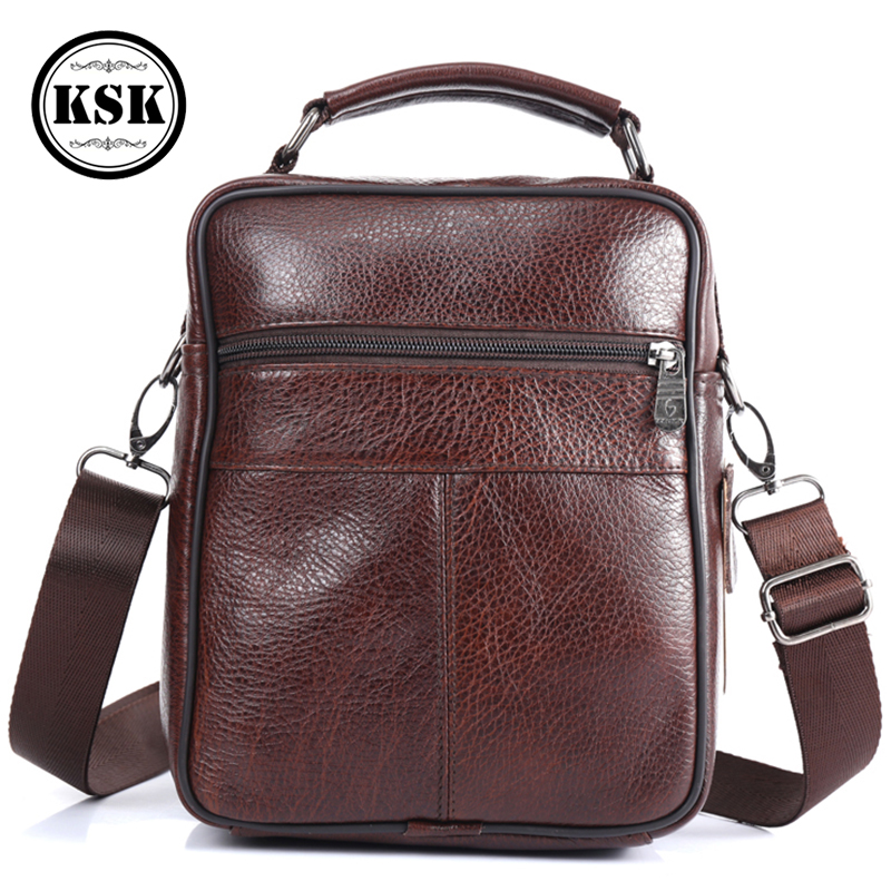 Image 2 - Men Bag Messenger Bag Genuine Leather Bag Shoulder Handbag Luxury Handbags Flap Crossbody Bags For Men 2019 Fashion KSKCrossbody Bags   -