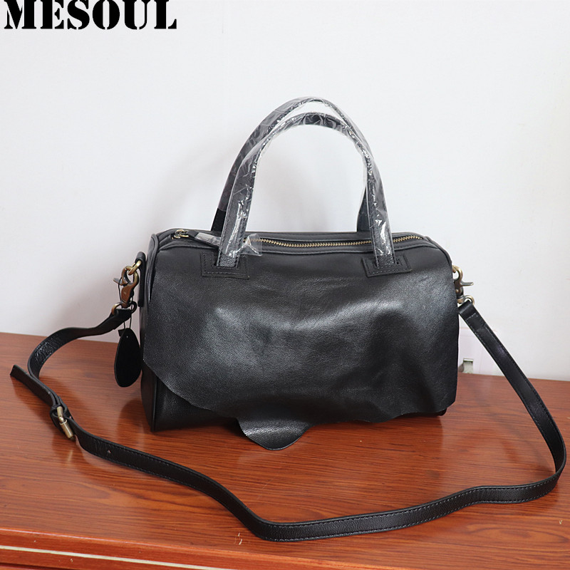 MESOUL Sheepskin Genuine Leather Women Bags Solid Casual Handbags Design Crossbody Bag For Ladies Shoulder Bags High QualityMESOUL Sheepskin Genuine Leather Women Bags Solid Casual Handbags Design Crossbody Bag For Ladies Shoulder Bags High Quality