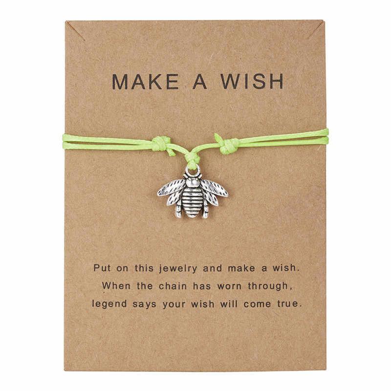 Ptak pszczoła stopa dziecka ręcznie liście palmowe serce żółw plaża regulowane bransoletki srebrne Charms kobiety mężczyźni chłopcy biżuteria dziewczęca nowość