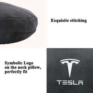 Image 4 - Styling Geheugen Zachte Comfortabele Auto Hoofdsteun Nekkussen Kussen Beschermen Logo Accessoires Voor Tesla Model S Model X Model 3