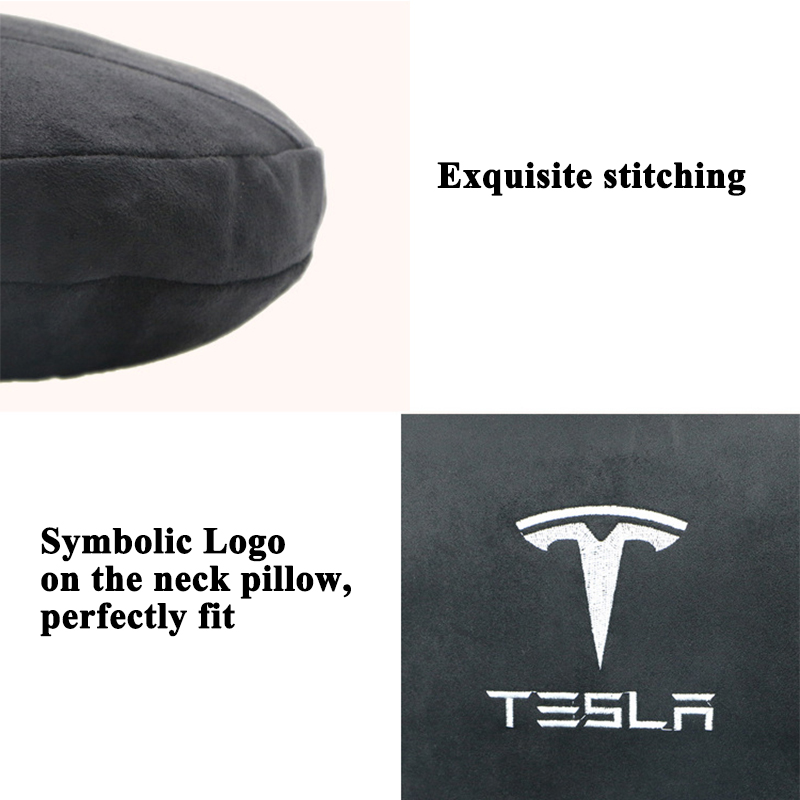 lowest price Styling Memory Soft Comfortable Car Seat Headrest Neck Pillow Cushion Protect Logo Accessories for Tesla Model S Model X Model 3