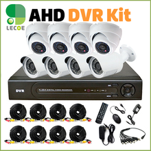 full 1080P 2.0MP 8CH 1080P surveillance System AHD DVR KIT CCTV video recorder home security system