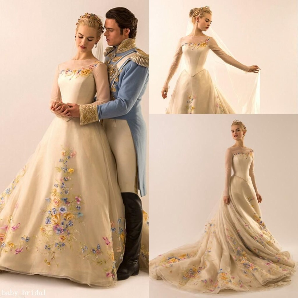 Online buy wholesale cinderella designer gowns from china for Designer ball gown wedding dresses