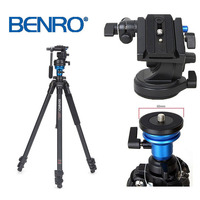 Cost effective BENRO A1573FS2 Professional Aluminum Tripod For Video Camera 3D Fluid Head Videotape Dual use Free Shipping ByDHL