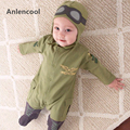 Anlencool NEW Baby Rompers Fashion Autumn Boys Clothing Sets Long Sleeve Baby Jumpsuit+Hat 2pcs Newborn For Boy Winter clothing