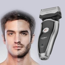 US Plug Rechargeable Cordless Electric Razor Portable Man Beard Shaver Groomer Double Side Trimmer Face Care Tool Dropshipping недорого