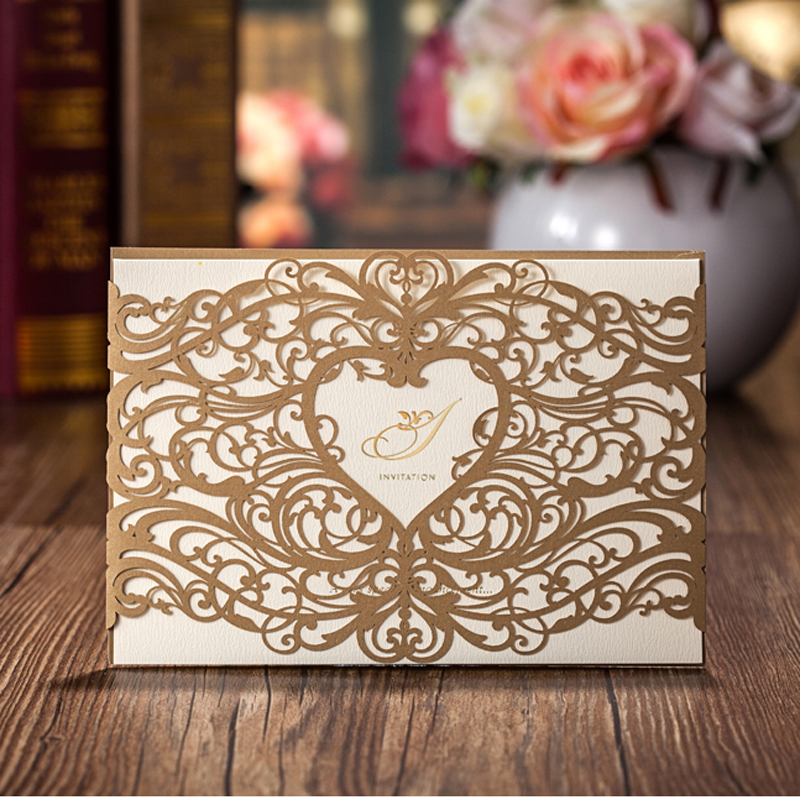 50Pcs Laser Cut Wedding Party Invitation Card,Paper Marriage ...