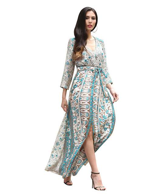 ec203d0156 Women Bohemian Beach Long Dress Floral Summer Beach Wear Maxi Womens  Clothing stripe African Dresses For Ladies Vestiti Donna