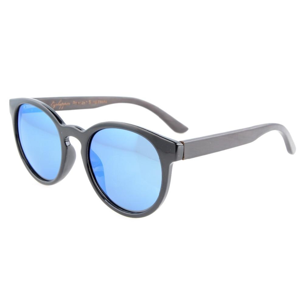 294ac58bafc193 S009 Polarisées Eyekepper Qualité Printemps Charnières Bras En Bois Ovale  Ronde lunettes de Soleil Polarisées Femmes
