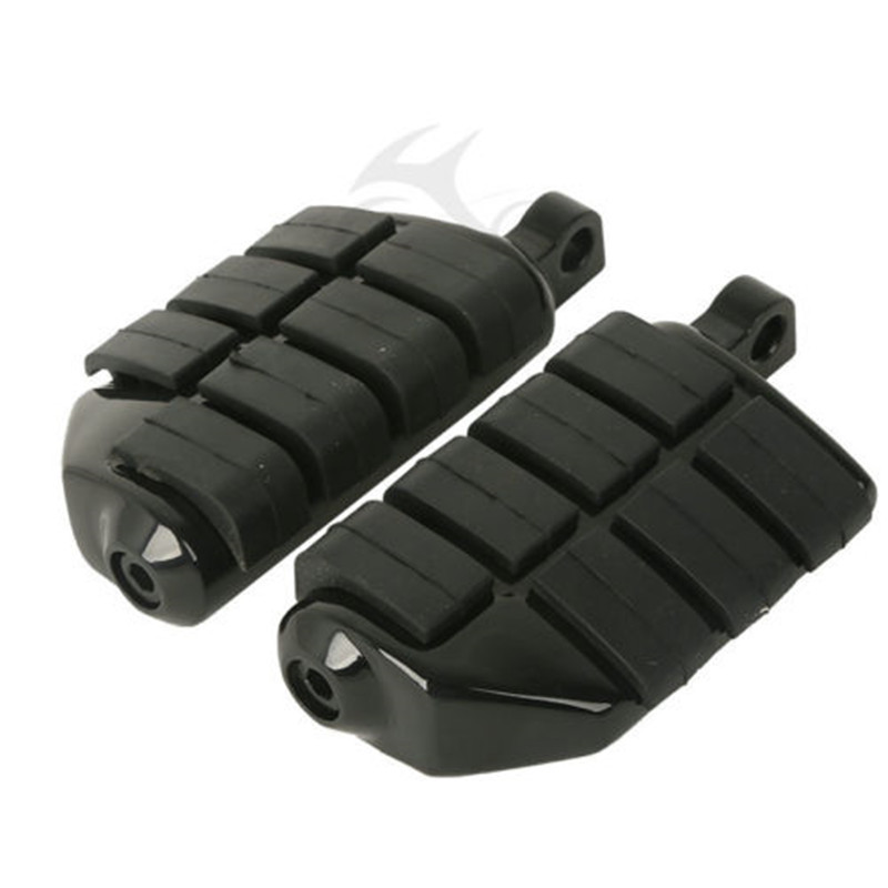 Black Wing Male Mount Footrests Footpegs For Harley Softail Dyna Sportster XL FXST DYNA FXWG FXR XL Black Motorcycle