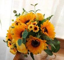 Sarı Düğün çiçekleri Broş