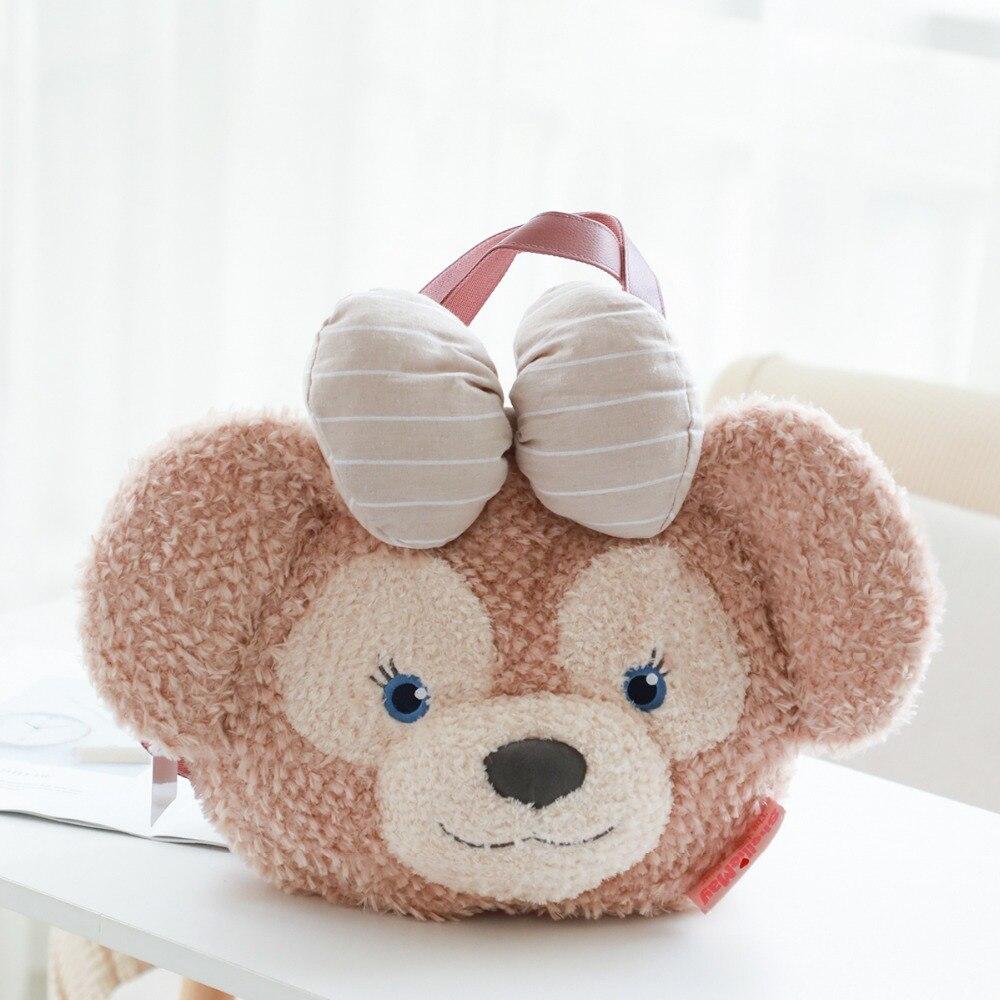 Kawaii Anime 45 cm Shelliemay ours en peluche doux sac à main Duffy ours visage en peluche fourre-tout sac à main sac à bandoulière grand sac à dos en peluche