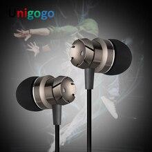 3.5mm Jack Earbuds Universal Engrenagem da Moda Fones de ouvido de Metal Baixo do Fone de ouvido para Xiaomi iPhone Samsung 8 7 6 5 MP3 MP4 com MIC