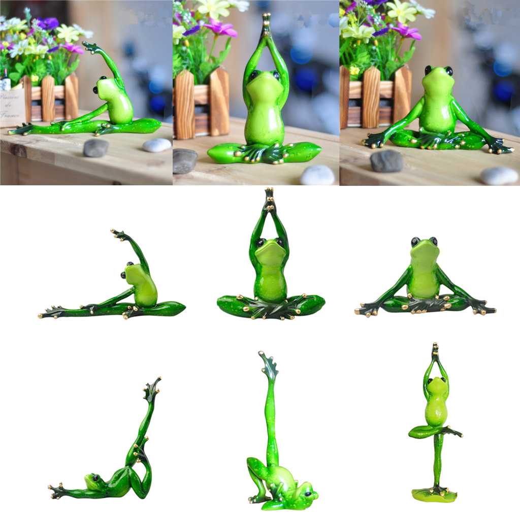 5 Pairs Cute Bonsai Dollhouse Craft Garden Ornament Landscape Frogs Decor