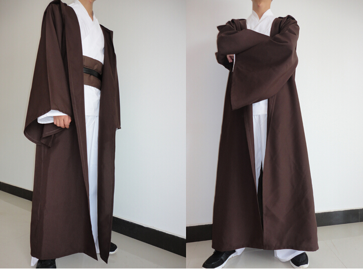 Free Shipping Hot Selling New STAR WARS JEDI/ SITH Hooded Cape Cloak Halloween Cosplay Costume Robe Plus Size Costume S-2XL