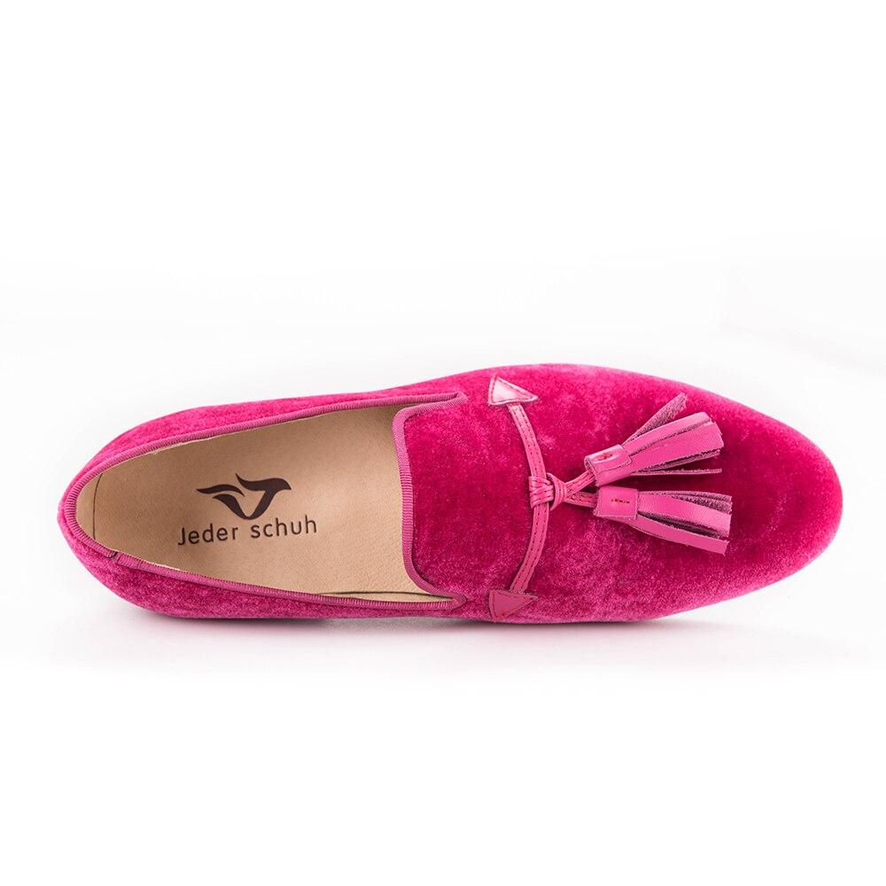 12dd5a2925a69 2017 Nouveau rose couleur hommes velours chaussures gland de mode en cuir  hommes mocassins de mariage et de partie chaussures hommes plat size6 16 ...