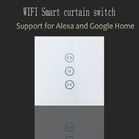 Wi Fi Curtain Switch Glass Panel Smart Mobile Control Via Tuya App Work With Amazon