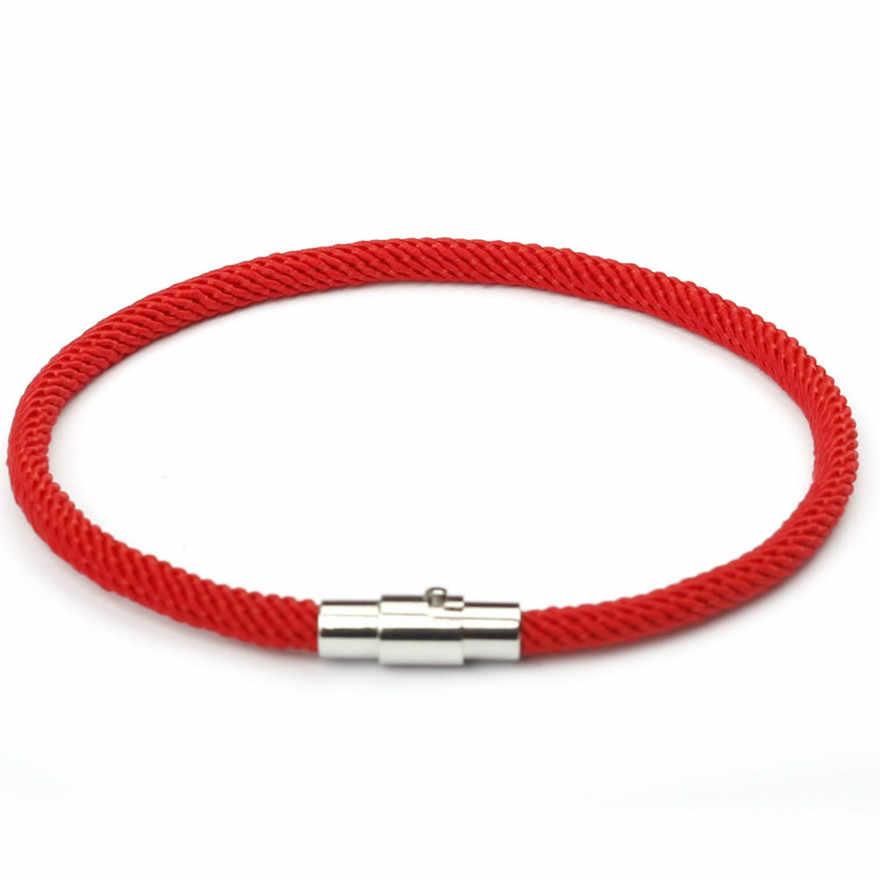 1 Pcs למכור אופנה קאף צמידי אדום מחרוזת צמיד מזל אדום בעבודת יד חבל צמיד מזל עבור נשים גברים תכשיטים