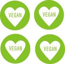 Green food / Vegan label sticker (1000 pcs)