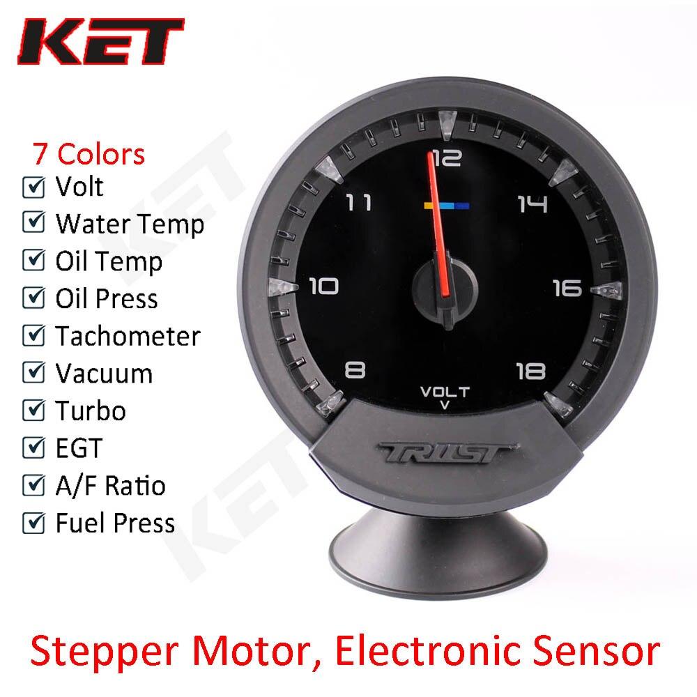 6in1 Multi-function Car Tachometer,RPM,Volt,Clock,Water//Oil Temp,Oil Press Gauge