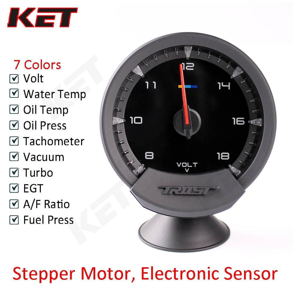 GReddi Sirius Series Metro confianza 74mm 7 colores Auto Gauge Volt agua temperatura del aceite prensa de aceite RPM vacío turbo EGT A/F Ratio de combustible