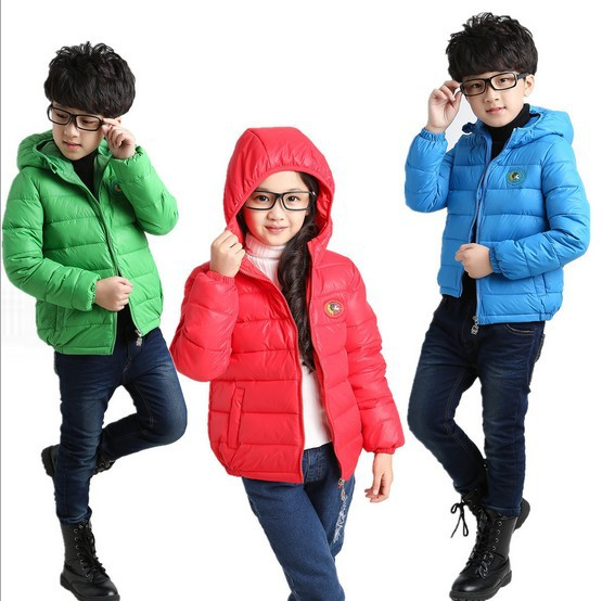 New autunm winter children s clothing outerwear parkas down jacket for boys and girls with hat