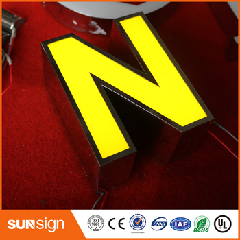 advertising led sign acrylic frontlit letters