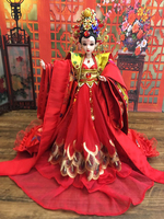 12 Handmade Collectible Chinese Bride Dolls With Exquisite Makeup / 3D Realistic Eyes Vintage BJD Girl Doll Wedding Gifts
