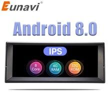 Eunavi 1 Din Octa Core Android 8,0 стерео радио GPS Системы для BMW E39 X5 E53 10,2 »автомобильный мультимедийный плеер 3g 4G WI-FI ips Экран