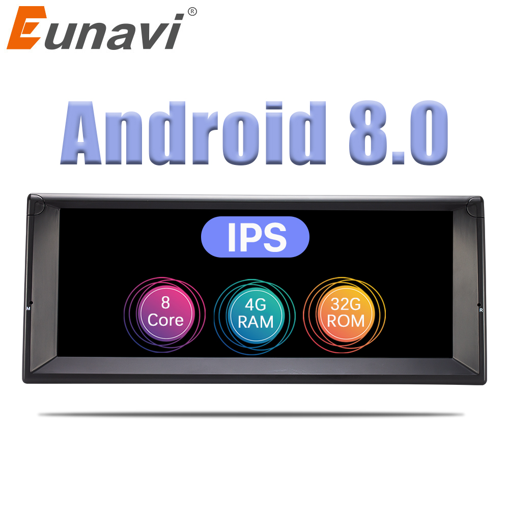 Eunavi 1 Din Octa base Android 8.0 radio gps chaîne hi-fi Pour BMW E39 X5 E53 10.2 ''Voiture lecteur multimédia 3G 4G WIFI IPS Écran