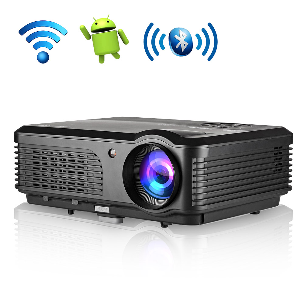 лучшая цена LCD LED Home Theater Projector Android Bluetooth Wifi Multimedia Beamer Full HD 1080P Video Game Movie Outdoor & Indoor HDMI