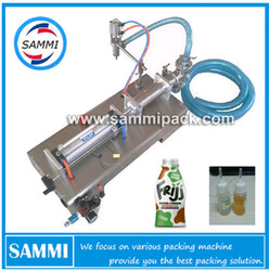 High precision G1WY-100 Pneumatic single head liquid filling machine for alcohol, chemical 10 to 100ml