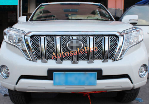 Honeycomb Style Front Grille Grill Mesh Cover Trim For Toyota Land Cruiser Prado Fj150 2014 2015 2016