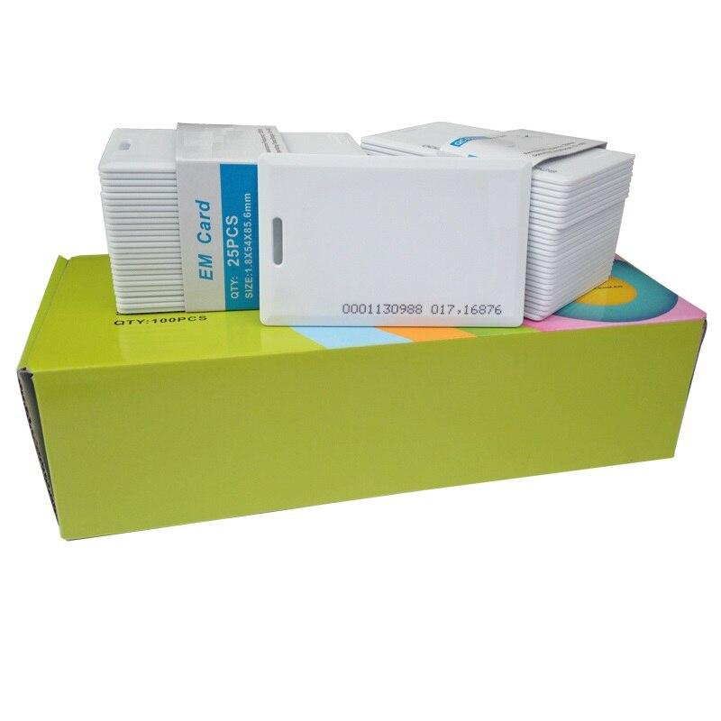 100 pcs EM/ID EM4100 cartão Grosso Cartão de 125 khz RFID Sistema de Controle de Acesso Ao Cartão cartão de Alta Qualidade
