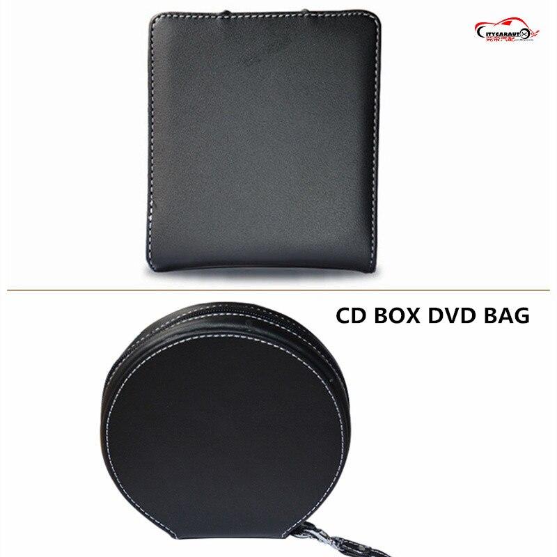 CITYCARAUTO LEATHER CD BOX DVD BAG CD STORAGE BAG DVD DISK CASE 20 CDS INSIDE CARRY CASE