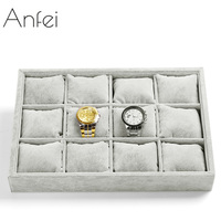 ANFEI High quality velvet jewelry tray jewelry display cabinet bracelet jade placed box box jewelry storage hot selling A22 2