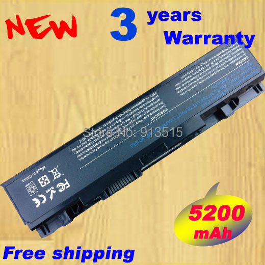 5200mAH Laptop Battery For <font><b>Dell</b></font> <font><b>Studio</b></font> <font><b>1535</b></font> 1536 1537 1555 1557 1558 PP33L PP39L 312-0701 312-0702 KM958 KM965 MT264 WU946 image