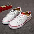 New Leather TB White Woman Leather Casual Shoes Korean Couple Singles Women's Shoes Lace Flat Shoes Brand Naked Italy JFN-A3009
