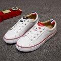 Nueva de Cuero TB Blanco Mujer Zapatos Casuales Pareja Coreana de Cuero Escoge los Zapatos de Las Mujeres Zapatos Planos Del Cordón Marca Naked Italia JFN-A3009