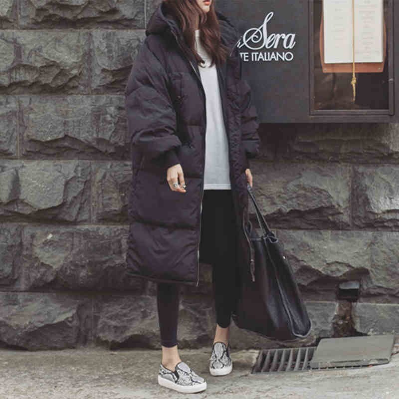Winter Jacket Coat Outwear Hooded Long Parka Warm Thickening Plus-Size Cotton Ladies