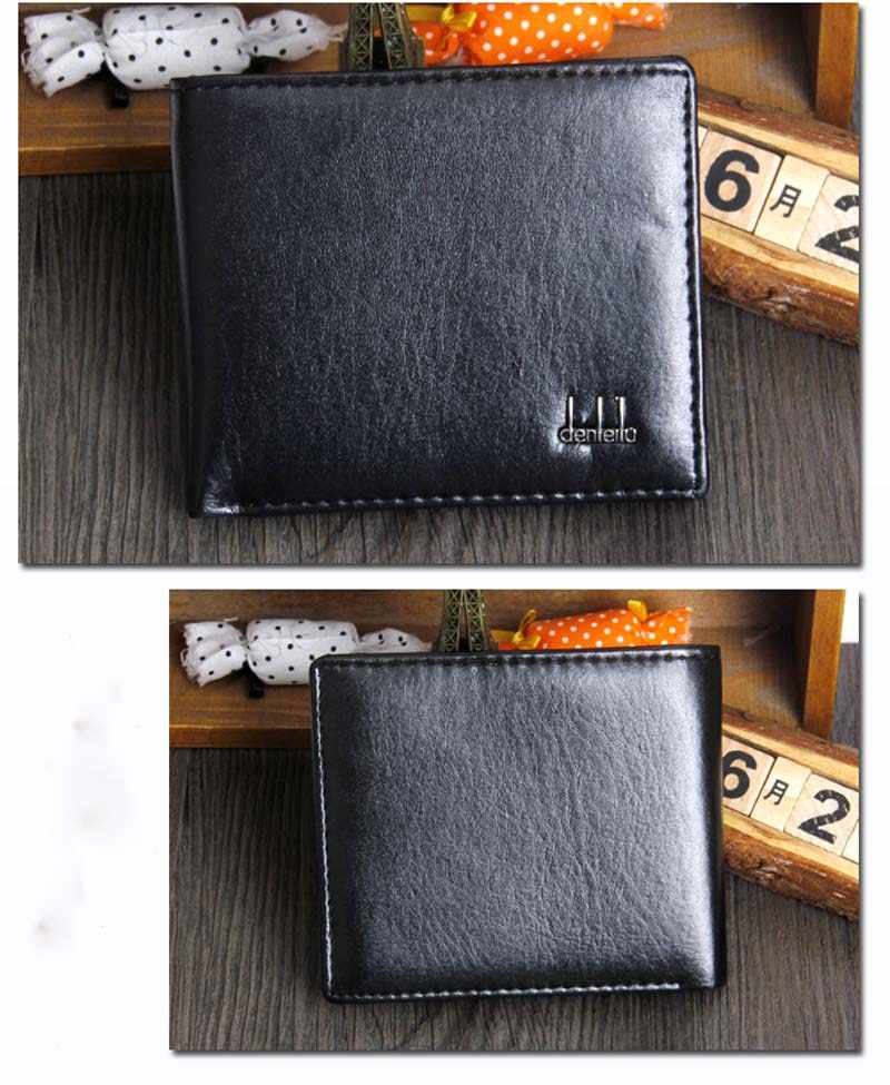 Leather Wallet ID Credit Card Houder Fabriek Direct Geen Winst mannen Dubbele Vouw Business Portemonnee Pocket Draagbare Licht 2019