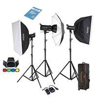 Godox профессиональный 1200 Вт фотографии Flash Studio Strobe комплект три 400 Вт Sk400 Monolight Комплект освещения CD50